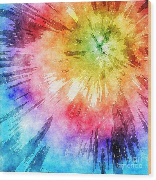 Tie Dye Watercolor Wood Print