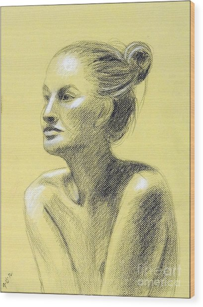 Tiffany Portrait Wood Print