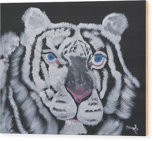 Jungle Eyes Wood Print
