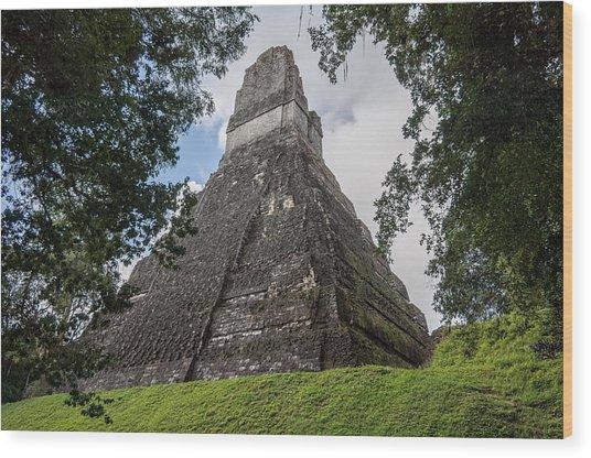 Tikal Pyramid 1b Wood Print