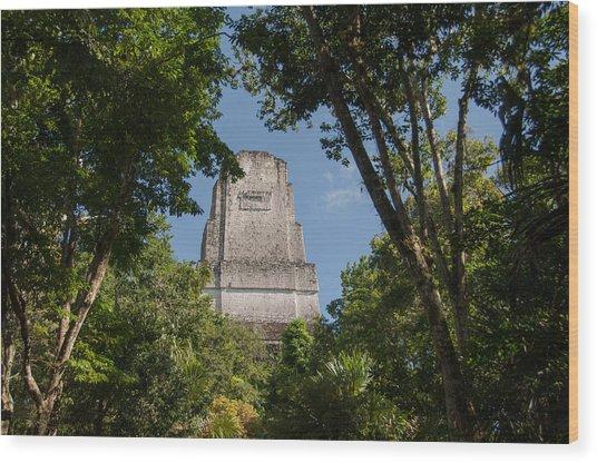 Tikal Pyramid 4b Wood Print