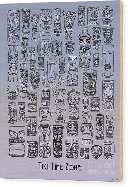 Tiki Cool Zone Wood Print