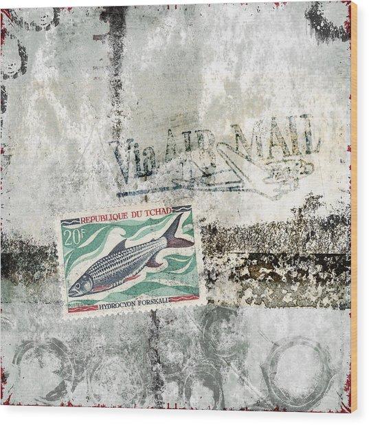 Tilapia Air Mail Wood Print
