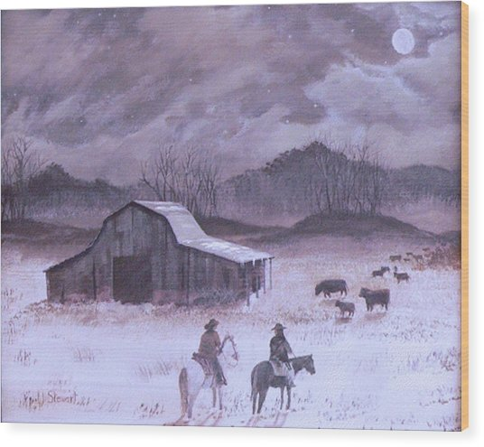 Till The Cows Come Home Wood Print