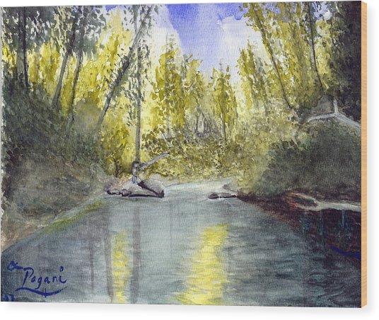 Tillamook Fishing Wood Print