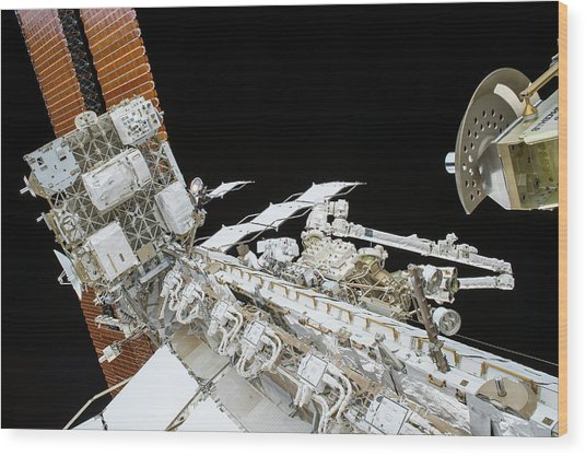 Tim Kopra's Spacewalk Wood Print