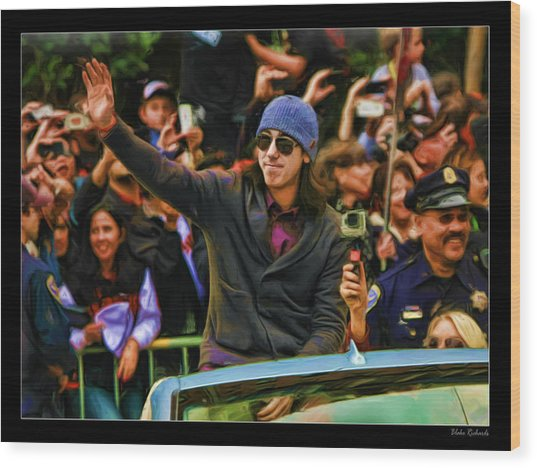 Tim Lincecum World Series 2012 Wood Print