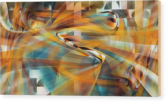 Wood Print featuring the digital art Time And Space by rd Erickson