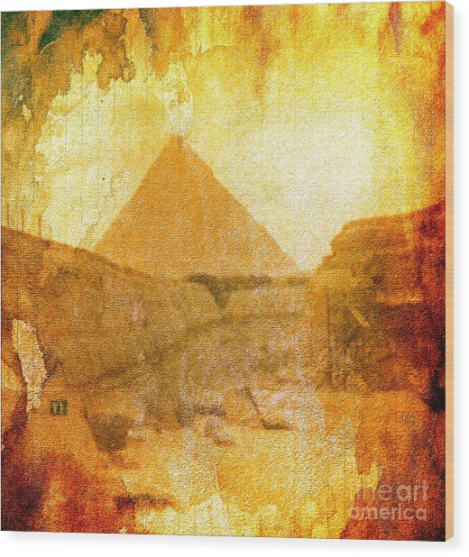 Time Fears The Pyramids Wood Print