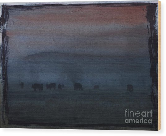 Time For Grazing Wood Print