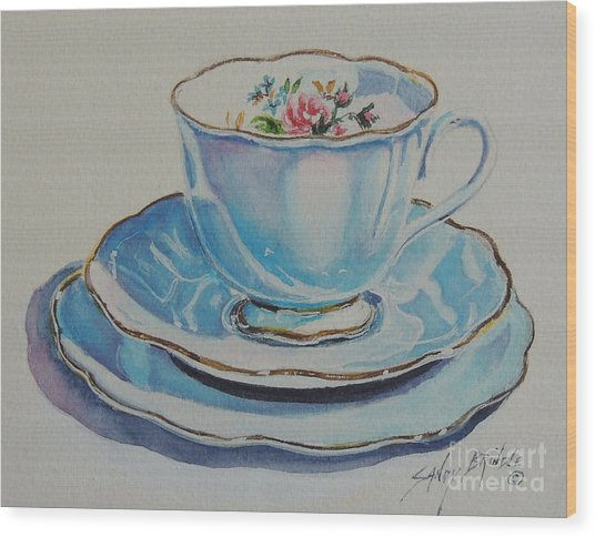 Time For Tea Sold Wood Print