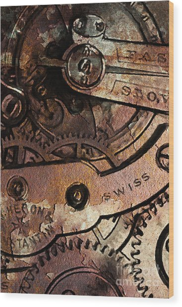 Time In Abstract 20130605rust Wood Print by Wingsdomain Art and Photography