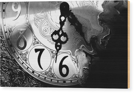 Time Is An Illusion Wood Print