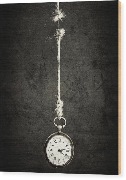 Time Is Up Wood Print by Sergio Rapagn??