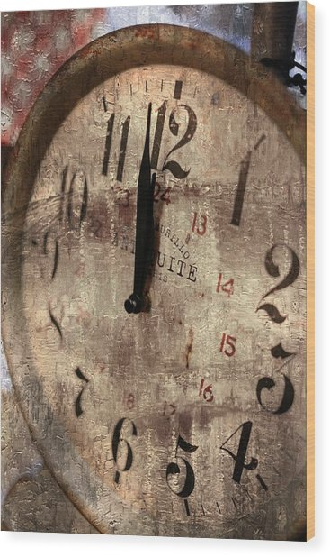 Time Moves Wood Print by Michael Hope