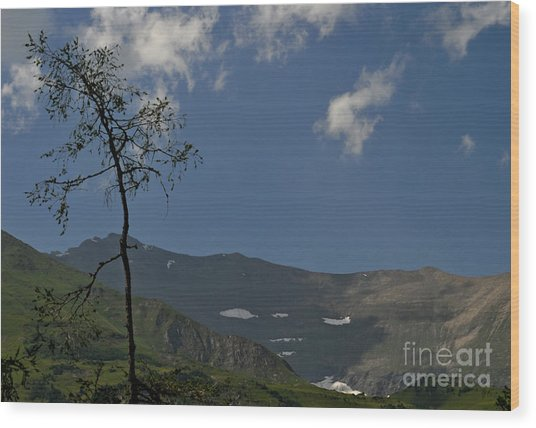 Time Stands Still High Alpine Region Austria Wood Print