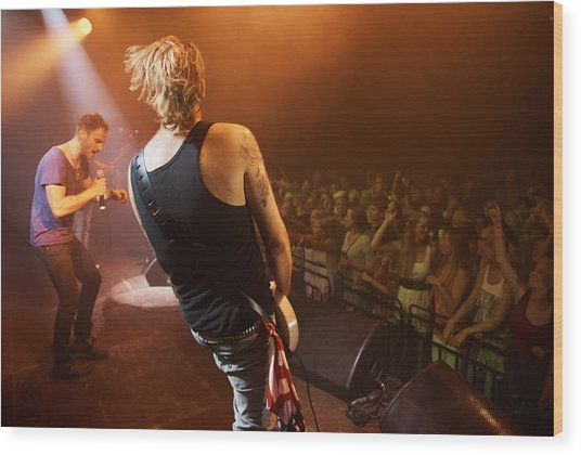 Time To Rock Out With A Solo... Wood Print by PeopleImages