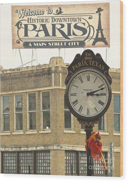 Time To Visit Paris Wood Print