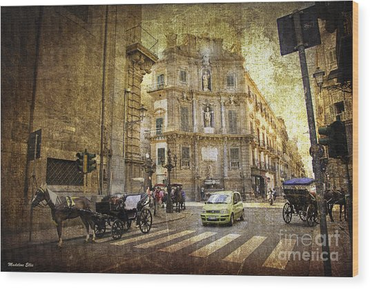 Time Traveling In Palermo - Sicily Wood Print