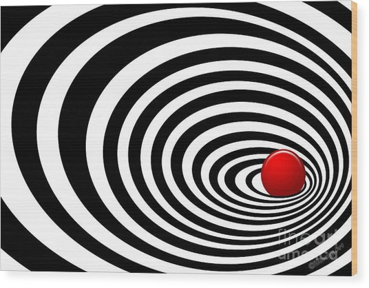 Time Tunnel Op Art Wood Print