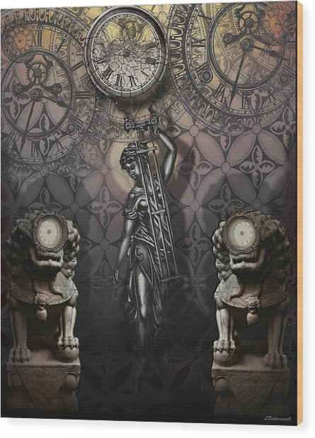 Timepiece Wood Print by Larry Butterworth