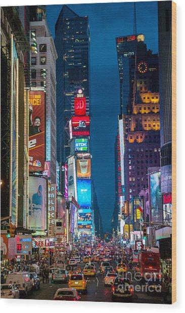 Times Square I Wood Print