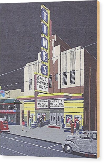 Times Theatre Wood Print by Paul Guyer