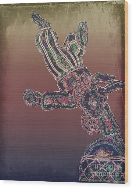 Tin Bunny Wood Print
