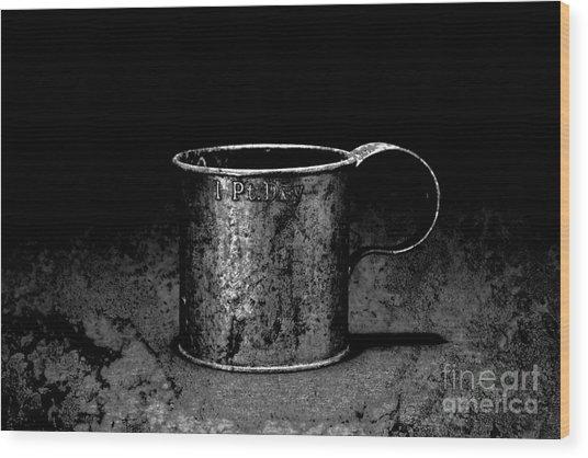 Tin Cup Chalice Wood Print