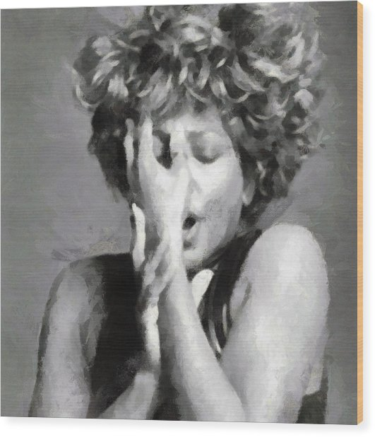Tina Turner - Emotion Wood Print