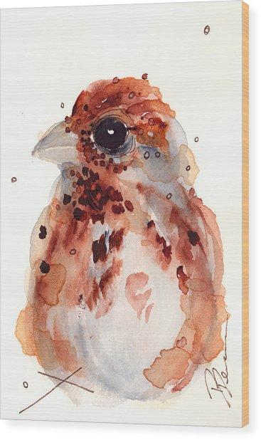 Tiny Sparrow Wood Print