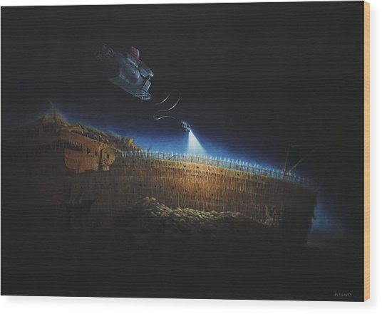 Titanic Wreck Save Our Souls Wood Print