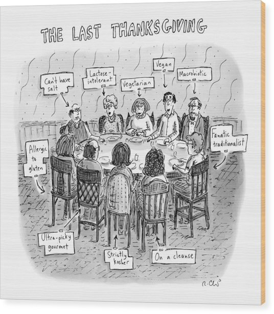 The Last Thanksgiving Wood Print