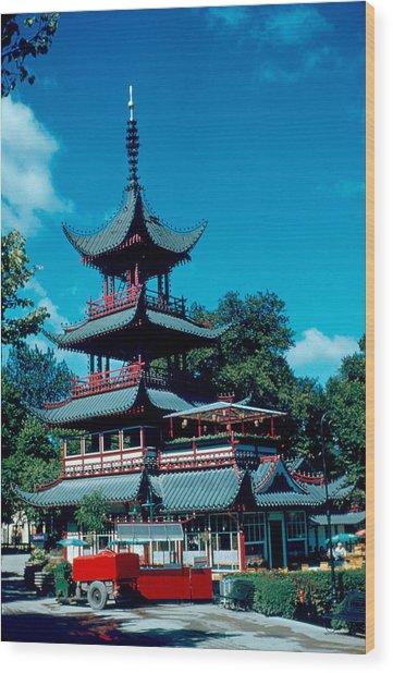 Tivoli Pagoda 1953 Wood Print by Cumberland Warden