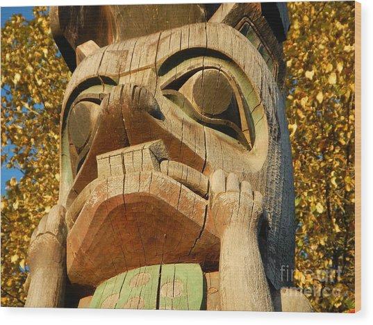 Tlingit Totem Wood Print