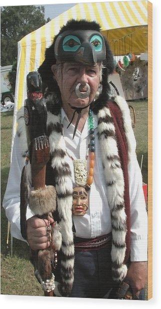Tlinkit Northwest American Indians Wood Print by Bill Marder