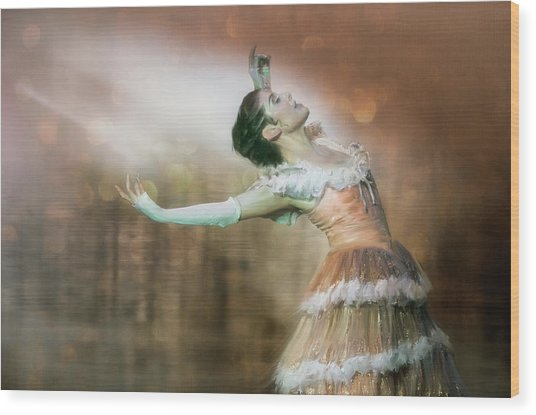 To Dance Wood Print by Charlaine Gerber