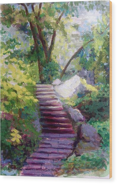 To Linden Terrace-fort Tryon Park Wood Print