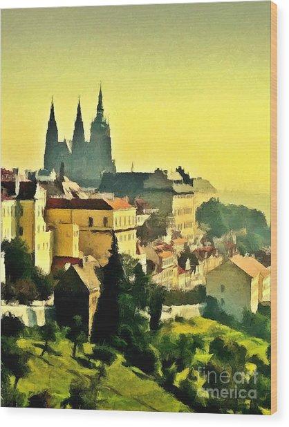 To Prague With Love... Wood Print