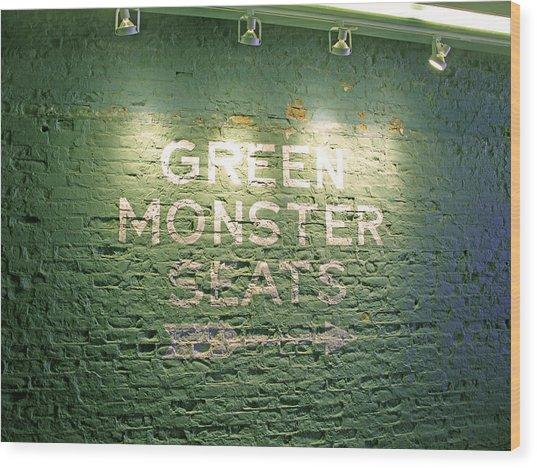 To The Green Monster Seats Wood Print
