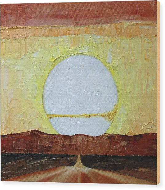 To The Sun Wood Print