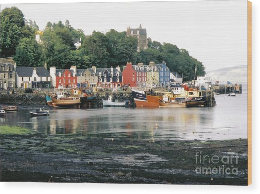 Tobermory Harbour Wood Print by Mark Bowden