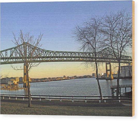 Tobin Bridge Wood Print