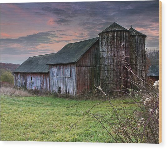 Tobin's Barn Wood Print