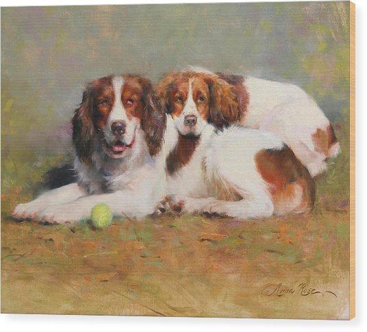 Toby And Ellie Mae Wood Print