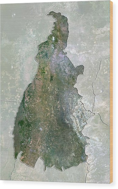 Tocantins, Brazil, Satellite Image Wood Print by Science Photo Library