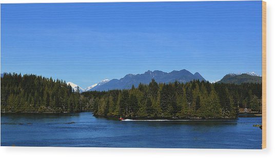 Tofino Bc Clayoquot Sound Browning Passage Wood Print