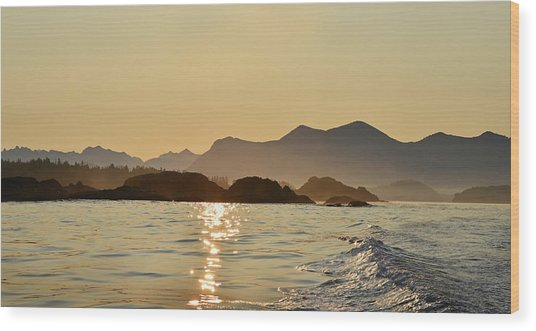 Tofino Morning On The Pacific Ocean Wood Print by Jan Lyall Photography