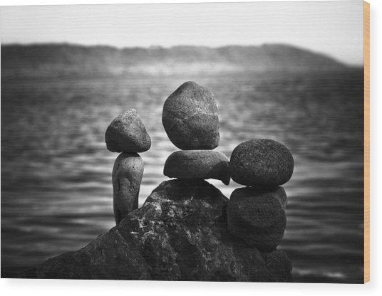 Together Alone Wood Print