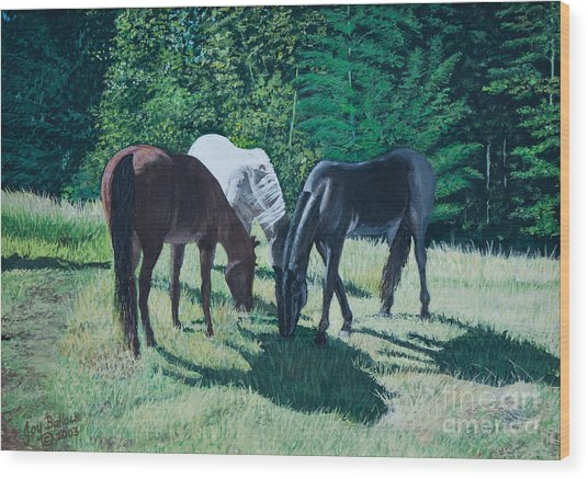 Together In Harmony. Wood Print